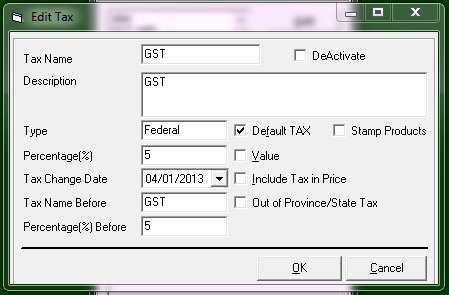 changing tax rate